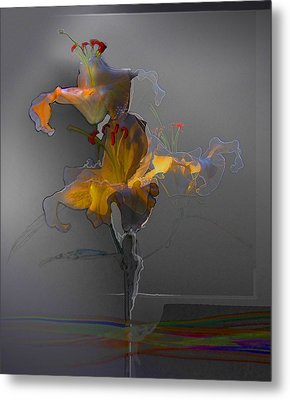 Metal Print featuring the photograph Lily Variation 09 by Richard Wiggins