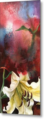 Lily With Red Metal Print by Alfred Ng
