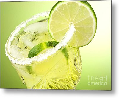 Lime Cocktail Drink Metal Print