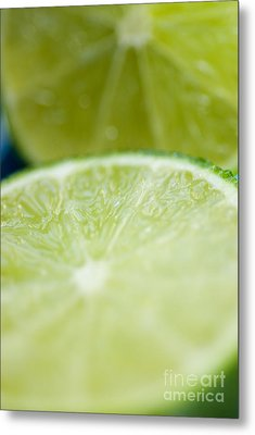 Lime Cut Metal Print by Ray Laskowitz - Printscapes