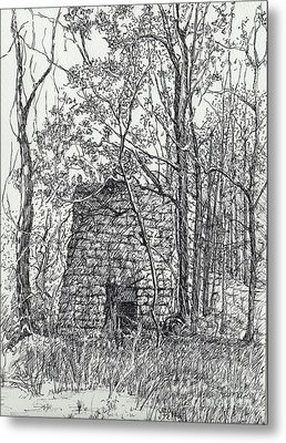 Lime Kiln, Erin, Tn Metal Print by Janet Felts