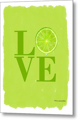 Lime Metal Print by Mark Rogan