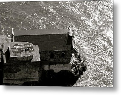 Lime Point Lighthouse Metal Print by Sonja Anderson