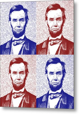 Lincoln Abstract America Metal Print by Greg Collins