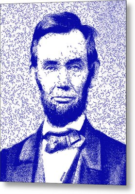 Lincoln Abstract Blue Metal Print by Greg Collins