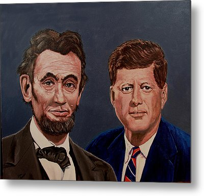 Lincoln And Kennedy Metal Print by Stan Hamilton