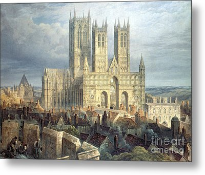Lincoln Cathedral From The North West Metal Print
