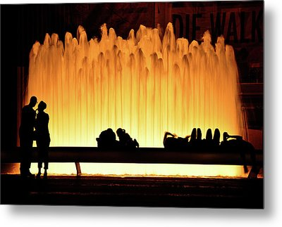 Lincoln Center Fountain Metal Print