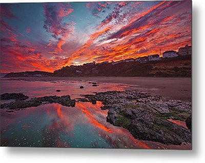 Lincoln City Sunrise Metal Print