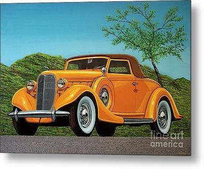 Lincoln K Convertible 1935 Painting Metal Print