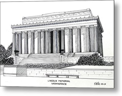 Lincoln Memorial  Metal Print by Frederic Kohli