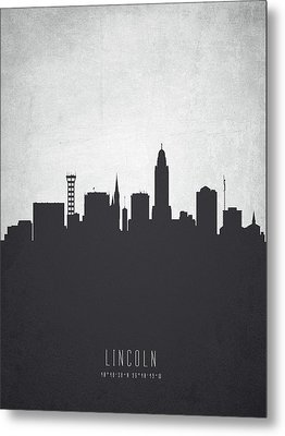 Lincoln Nebraska Cityscape 19 Metal Print by Aged Pixel