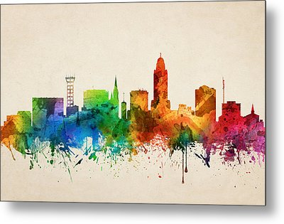 Lincoln Nebraska Skyline 05 Metal Print
