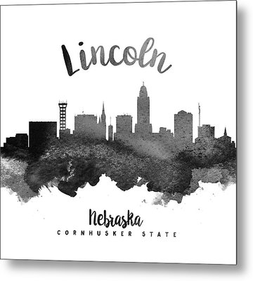 Lincoln Nebraska Skyline 18 Metal Print