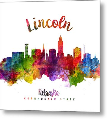 Lincoln Nebraska Skyline 23 Metal Print