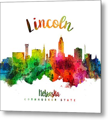 Lincoln Nebraska Skyline 24 Metal Print
