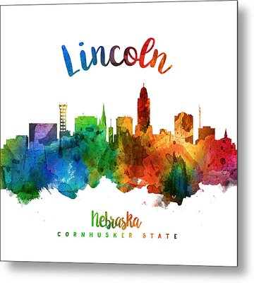Lincoln Nebraska Skyline 25 Metal Print