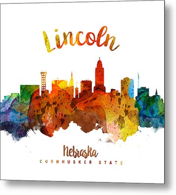 Lincoln Nebraska Skyline 26 Metal Print