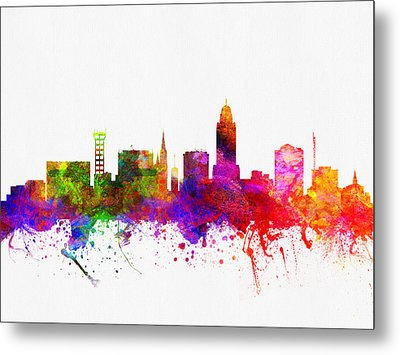 Lincoln Nebraska Skyline Color02 Metal Print