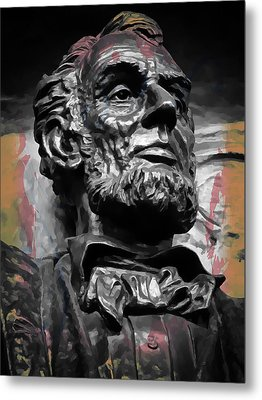 Lincoln Stoic Metal Print by Daniel Hagerman