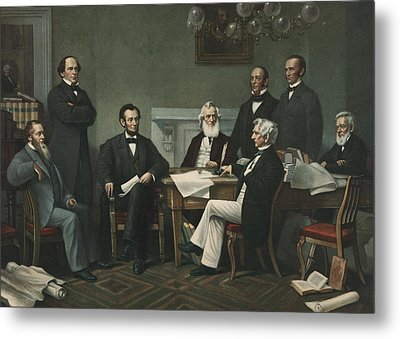 Lincoln's Cabinet Metal Print by Francis Bicknell Carpenter