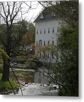Linden Mill Pond Metal Print