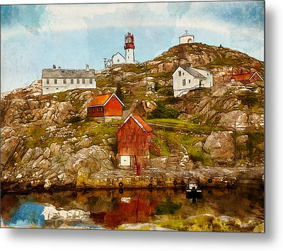 Lindesnes Lighthouse Metal Print by Kai Saarto