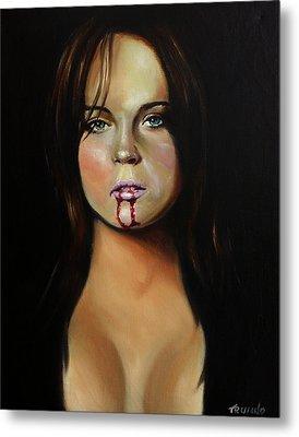 Lindsay Lohan Metal Print by Matt Truiano