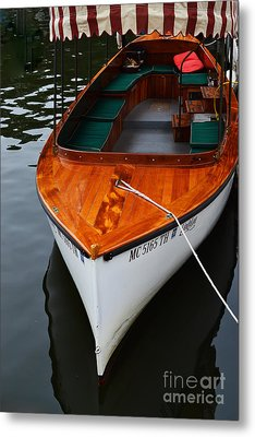 Lindy Lou Wood Boat Metal Print