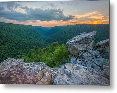Canaan Valley West Virgina Lindy Point Sunset Metal Print by Rick Dunnuck