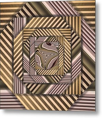 Metal Print featuring the digital art Line Geometry by Ron Bissett