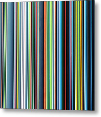 Linear Technicolor - 4 Of 4 Metal Print