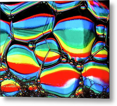 Metal Print featuring the photograph Lined Bubbles by Jean Noren