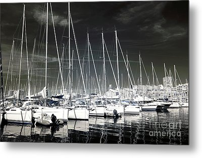 Lined Up In Marseille Metal Print by John Rizzuto