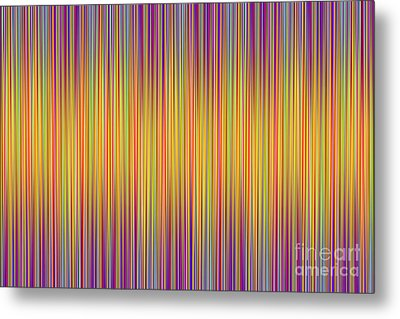Metal Print featuring the digital art Lines 102 by Bruce Stanfield