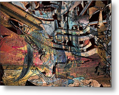 Lines And Colors Metal Print by Don Gradner