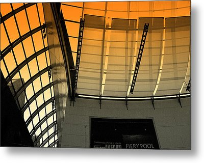 Metal Print featuring the photograph Lines Curves And Color by Laura DAddona