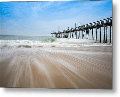Outer Banks North Carolina Pier  Metal Print by Rick Dunnuck