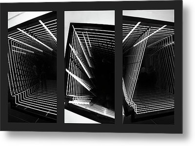 Lines Of Light Triptych Metal Print by Jessica Jenney