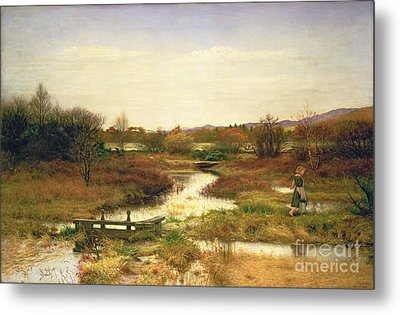 Lingering Autumn Metal Print by Sir John Everett Millais