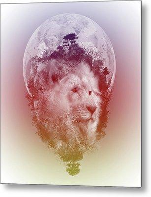 Lion 3 Metal Print