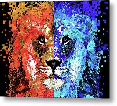 Lion Art - Majesty - Sharon Cummings Metal Print