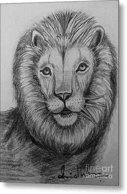Lion Metal Print by Brindha Naveen