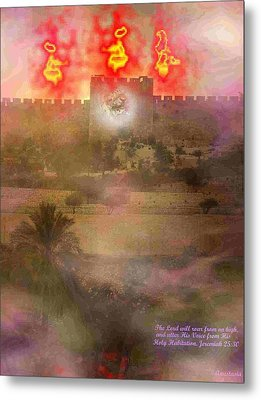 Metal Print featuring the photograph Lion Of Judah At The Gate He Is Coming by Anastasia Savage Ealy