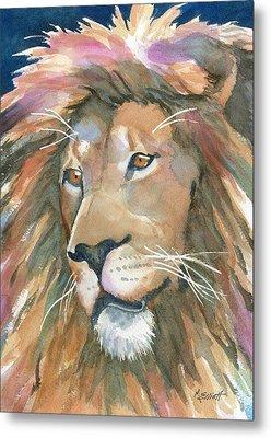 Lion Of Judah Metal Print by Marsha Elliott