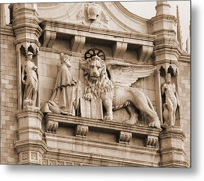 Lion Of Venice With The Doge Metal Print by Donna Corless