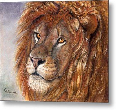 Lion Portrait Metal Print by Svetlana Ledneva-Schukina