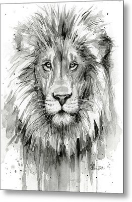 Lion Watercolor  Metal Print