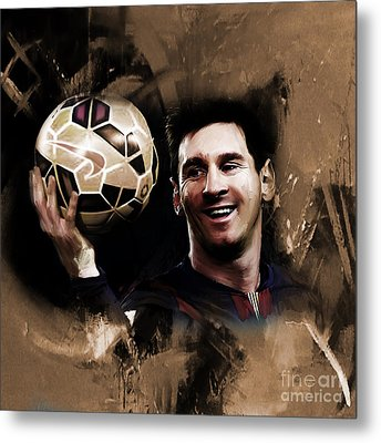 Lionel Messi 032a Metal Print by Gull G