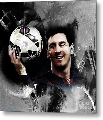 Lionel Messi 03c Metal Print by Gull G